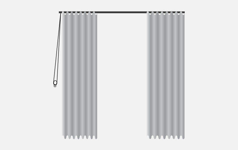 hand traverse curtains
