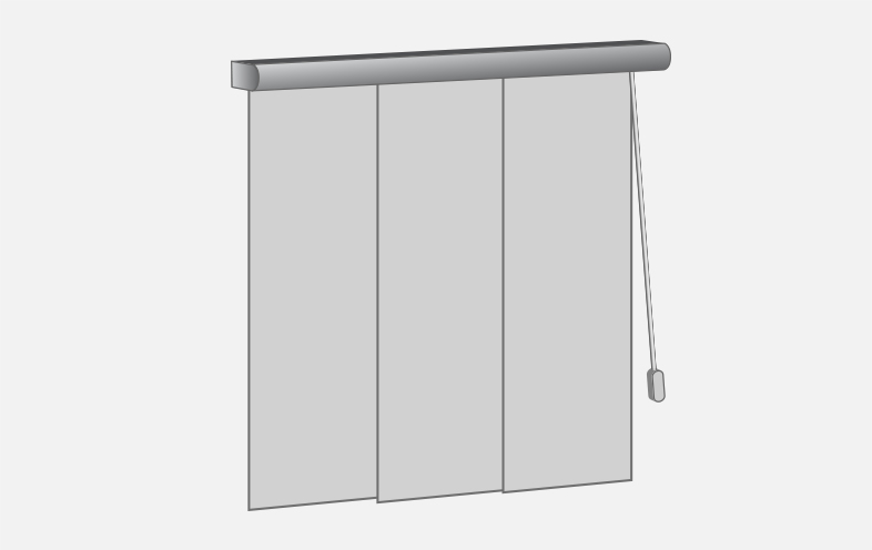 panel blinds opening combination